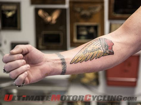 tattoo video indian motorcycle employee s leads to new
