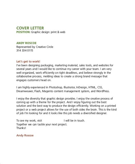 sample graphic design cover letter templates ms