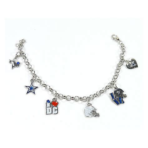 dallas cowboys 6 charm bracelet jewelry accessories