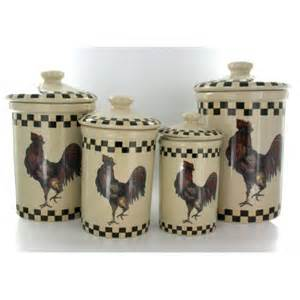 kitchen rooster canister set of 4 country style