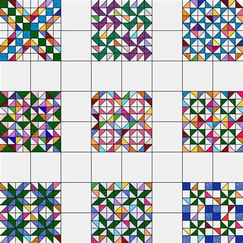 pattern block triangle grid half square triangle swap half square triangle quilts