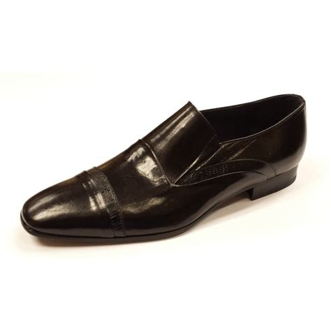 black leather slip on shoes za4016 black leather slip on shoe