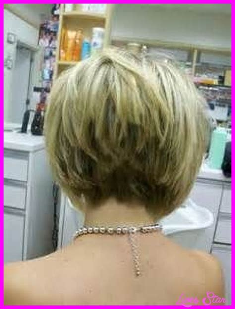 short stacked haircuts for fine hair that show front and back back view of short hairstyles stacked livesstar com