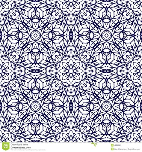 seamless pattern template seamless pattern with ethnic lace ornament stock vector