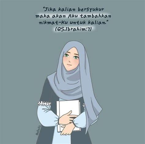 gambar kartun muslimah berhijab terbaru