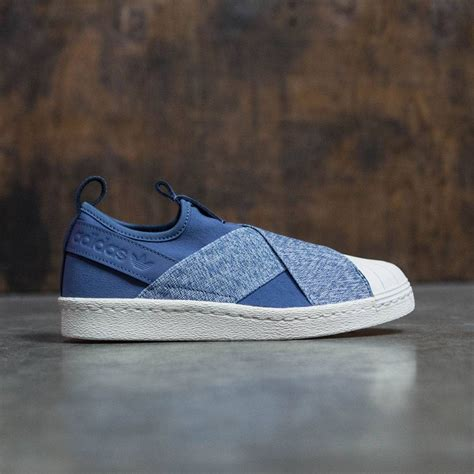 Adidas Slip On Blue adidas superstar slip on blue tecink white