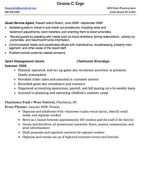 guest service resume sle resumes design