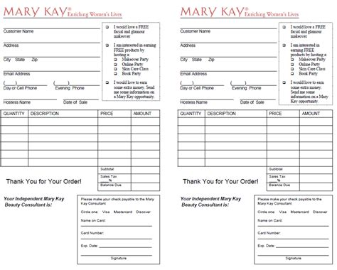 printable mary kay receipt pin mary kay inventory management image search results on