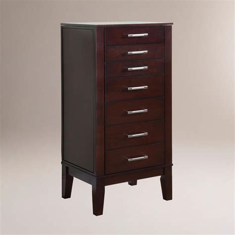 contemporary armoire contemporary jewelry armoire world market
