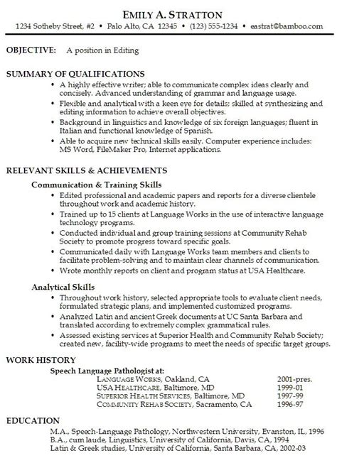 resume objective help resume objective exles 526 http topresume info