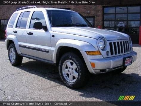 silver jeep liberty 2007 bright silver metallic 2007 jeep liberty sport 4x4