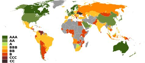 the intern rating list of countries by credit rating the free