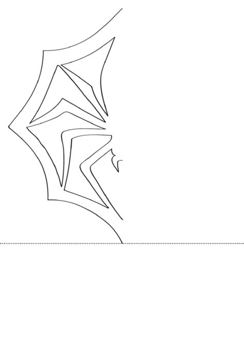 snowflake spider template printable