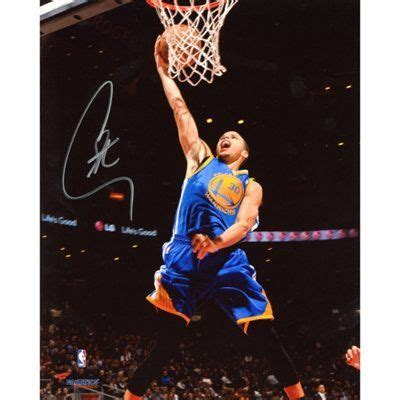 Stephen curry dunk stephen curry golden state warriors autographed 8