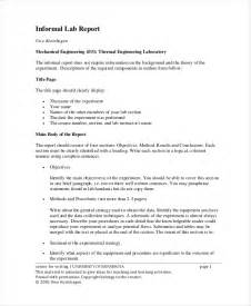 lab report template 9 lab report templates free sle exle format