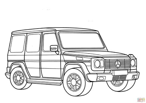 Drawing G Wagon by Mercedes G Class Coloring Page Free Printable Coloring Pages
