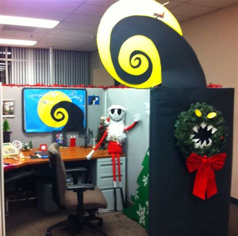 cubicle decoration themes christmas eco friendly nightmare before christmas office cubical decor jack