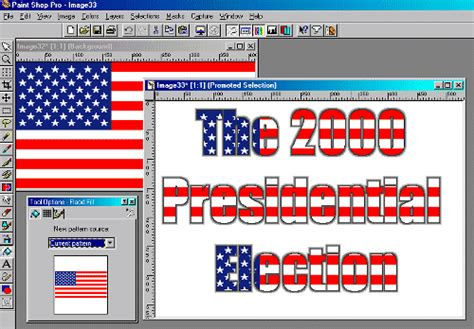 american flag pattern for photoshop paint shop pro how to for versions 5 and 6 by george cassutto