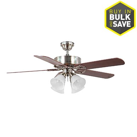 Ceiling Fans With Lights For Sale Lowe S Harbor Springfield Ii 52 In Brushed Nickel Indoor Ceiling Fan On Sale For 79 98