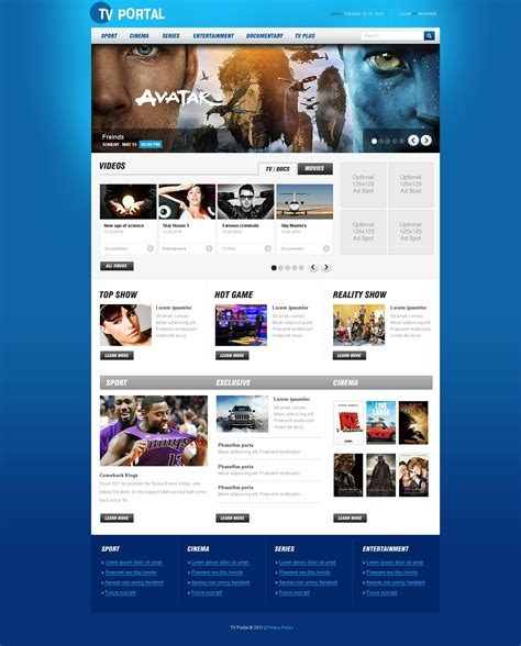 Tv Channel Psd Template 56486 Web Tv Template