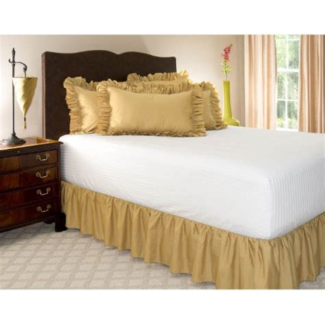 gold bed skirt queen gold ruffled bed skirt with 14 quot drop 51 14