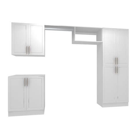 modifi 120 in w white hanging rod laundry cabinet