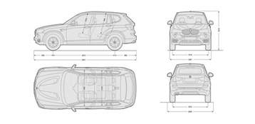 Length Of Bmw X3 Bmw X3 Sizes Dimensions And Towing Weights Carwow