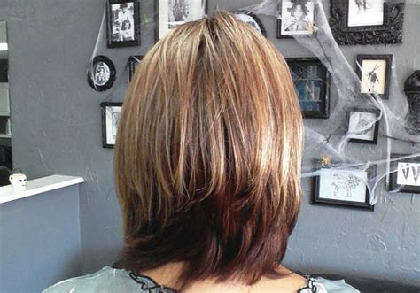 medium bob back of hair picture 58 gorgeous long layered bobs with bangs haircuts