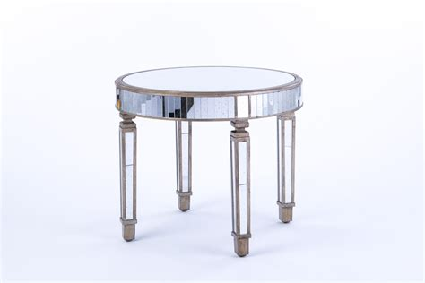 small mirrored accent table mirrored furniture rental encore events rentals