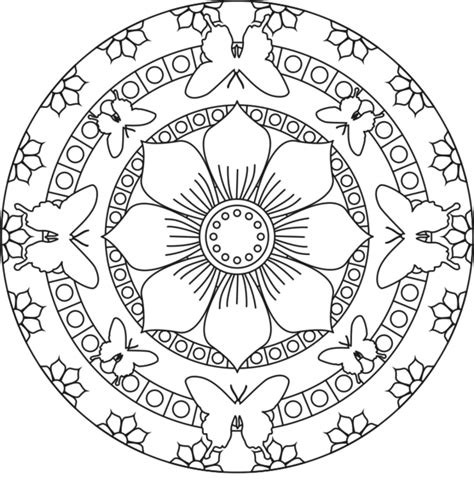 Free Printable Mandalas For Kids Best Coloring Pages For Mandala Free Coloring Pages