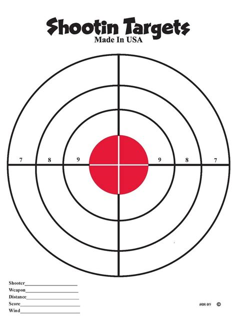 free printable targets 8 5 x 11 50 red bullseye hand gun and rifle paper shooting targets