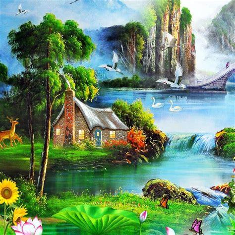 wallpaper pemandangan alam kartun 49 gambar pemandangan alam yang menajubkan