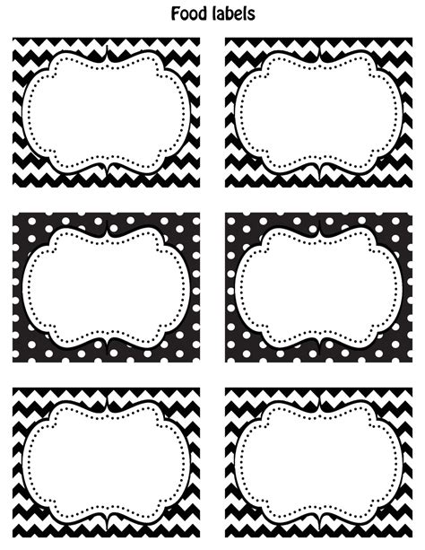 free template for labels for cards western etiquettes a bonbons et contours a cupcakes de fetes