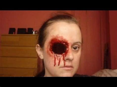 halloween makeup tutorial missing eye youtube
