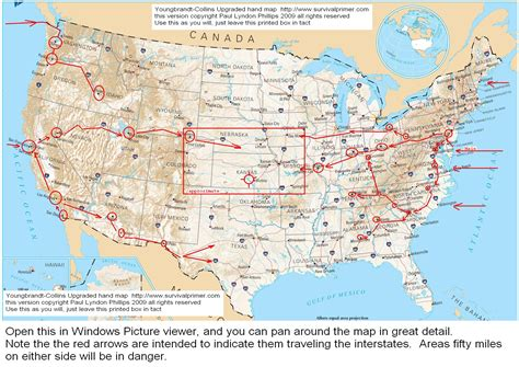 united states map with cities and interstates interstate road map of usa