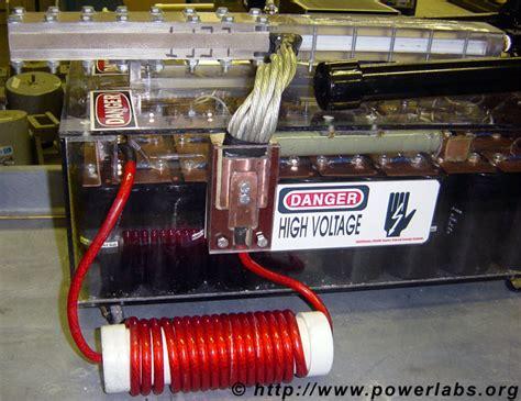 inductance coil gun powerlabs railgun testing