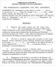 Forbearance Agreement Template forbearance agreement commercial loan