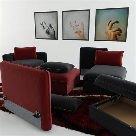 carpet and sofa modular sofa carpet and triptych 3d model max obj fbx mtl