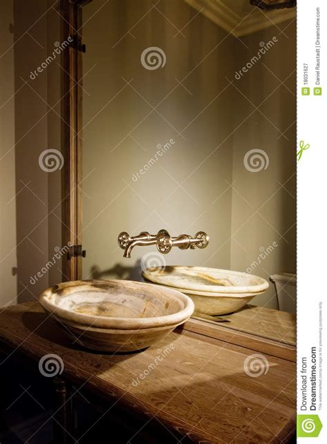 home interior bathroom mirror and sink stock photo image retro bathroom bowl sink faucet and counter stock photo