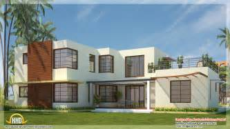 Contemporary House 2300 sq ft box shaped flat roof home design