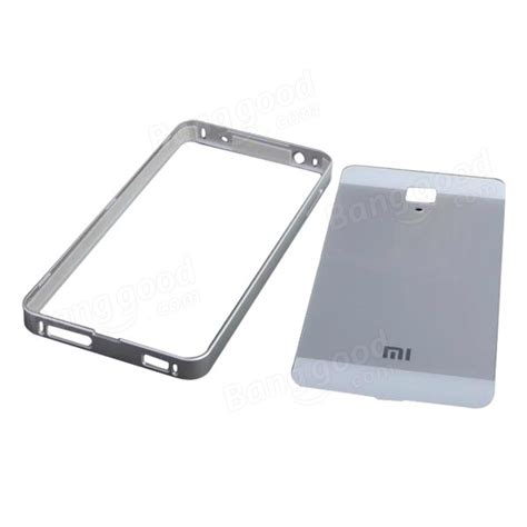 Sale Aluminium Tempered Glass For Xiaomi Mi4s 1 tempered glass back cover aluminum frame for xiaomi 4