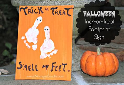 Paper Decorations To Make At Home trick or treat smell my feet halloween kid craft mommy