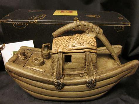 yixing tea boat yixing chinese ware purple clay pottery fishing boat junk