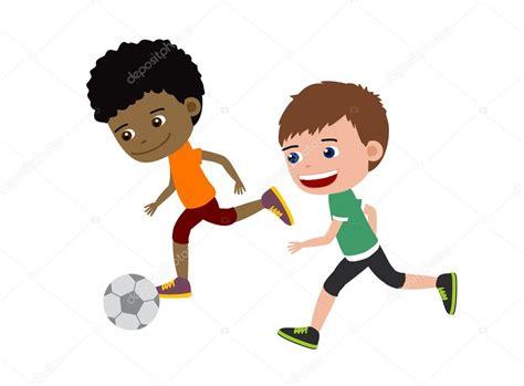 imagenes de niños jugando al futbol chicos de f 250 tbol ilustraci 243 n de dibujos animados de ni 241 os