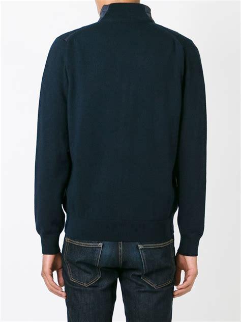 Sweater Z 07 Lyst Z Zegna Zip Sweater In Blue For