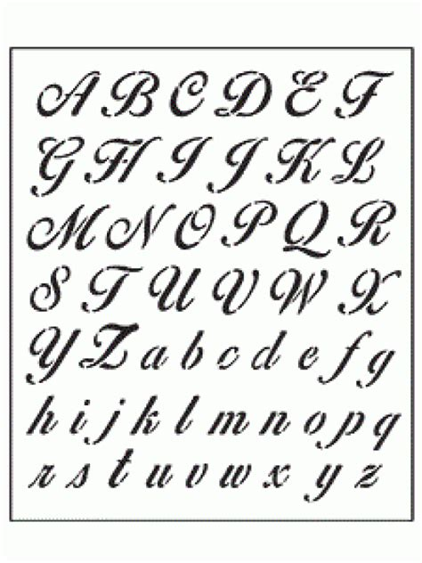 alfabeto lettere in corsivo alfabeto corsivo classico