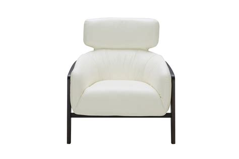 White Leather Accent Chair Modern White Leather Accent Chair With Wood Legs Virginia Virginia Vig Divani Casa