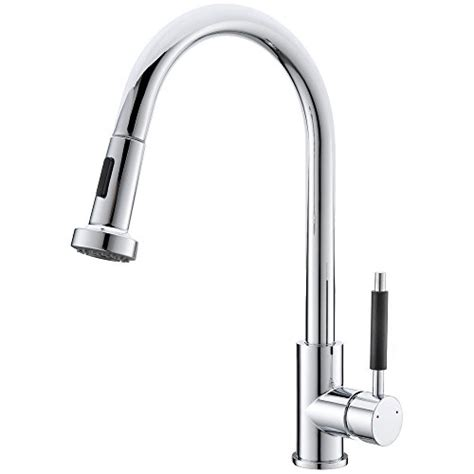 industrial kitchen faucets stainless steel vapsint commercial stainless steel single handle sprayer pull out kitchen faucet chrome pull