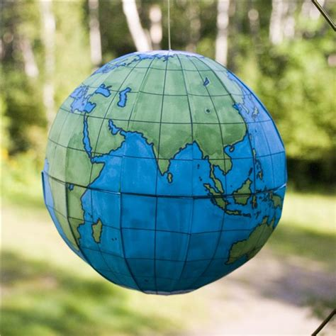 Handmade Globes - how to make a globe using print and assemble