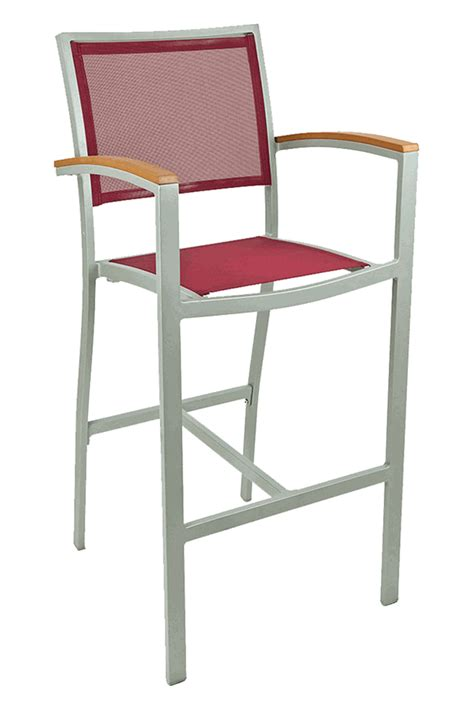 Florida Seating Outdoor Bar Stools by Florida Seating Commercial Aluminum Batyline Weave Outdoor
